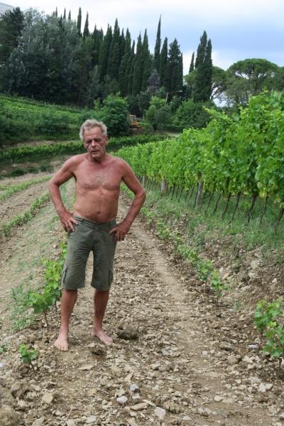 Dario Princip in vineyard