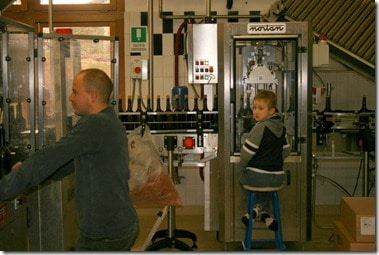 Owner's grandson keeps his eye on the bottling line