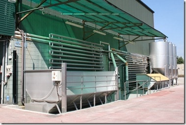 cooling equipment for newly picked grapes