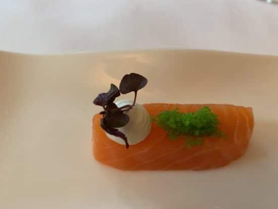 Salmon and Wasabi pearls