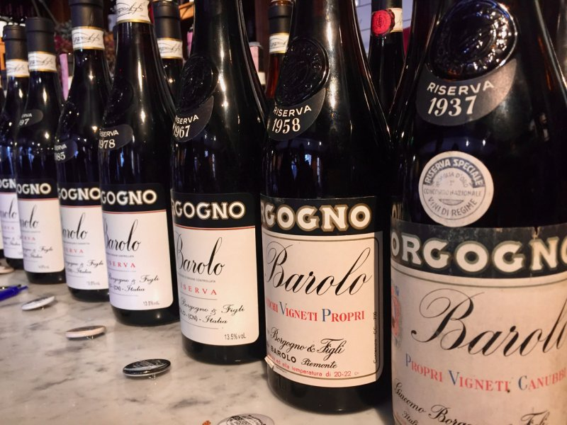 Barolo riserva line up