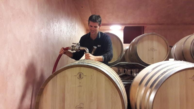 Francesco Gagliardo in the winery