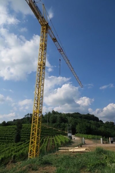 the new Podversic winery begins