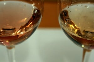 Two pink wines