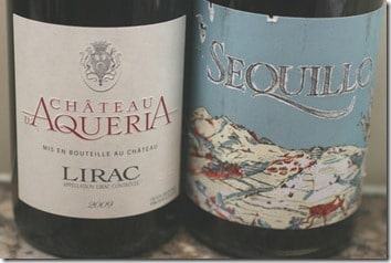 Ch. d'Aqueria and Sequillo red