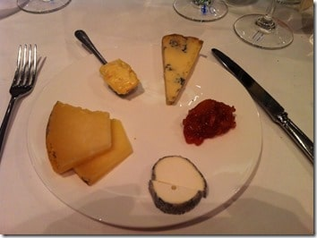 cheese before dessert