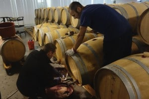 Racking wine