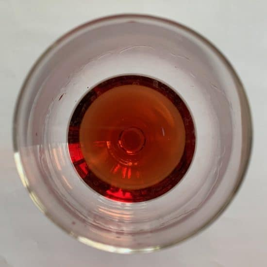 Grignolino in the glass