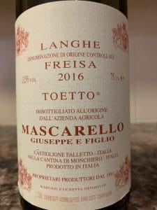 Mascarello's Freisa