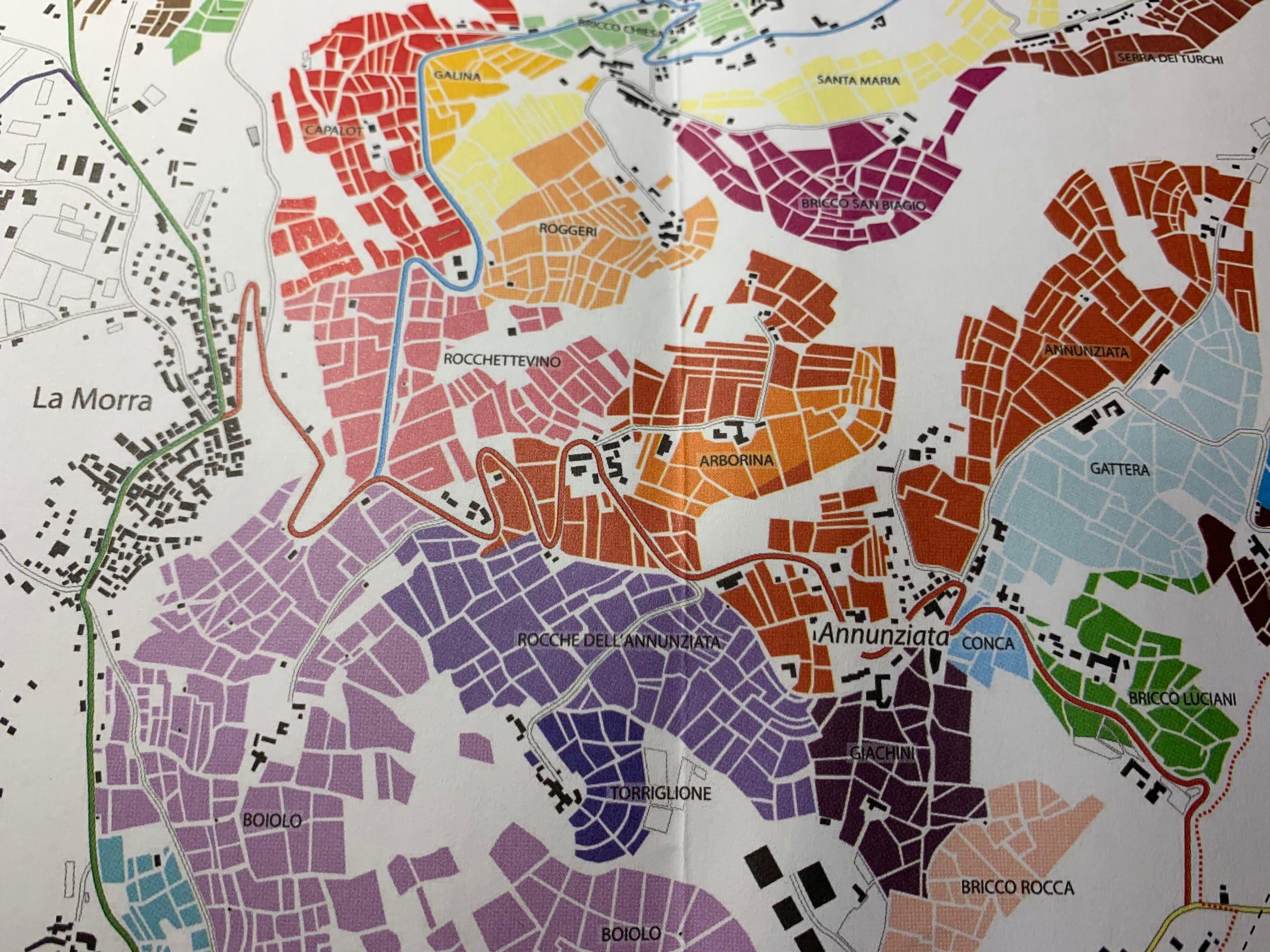 Masnaghetti wine maps of La Morra, Barolo
